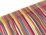 Offene Kunstseiden-Franse 14cm Multicolour