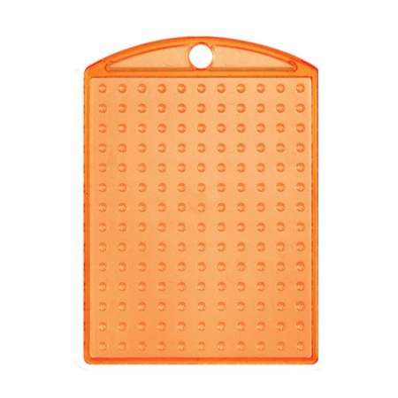 Pixel Medaillion Grundplatte orange