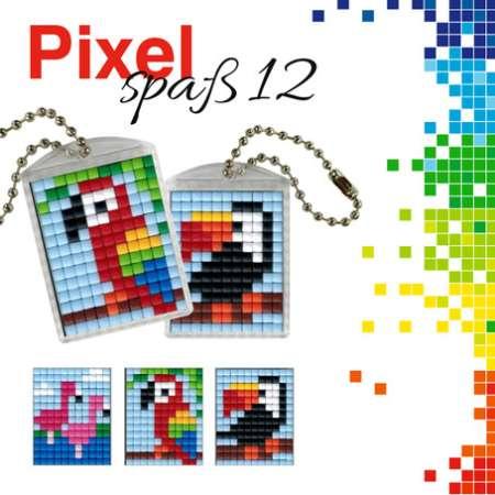 2 Anhänger Pixel Spaß Set 5 Frosch 90024-00505 Eule Dino neu Medaillons
