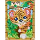 Sequin Art Paillettenbild Tiger